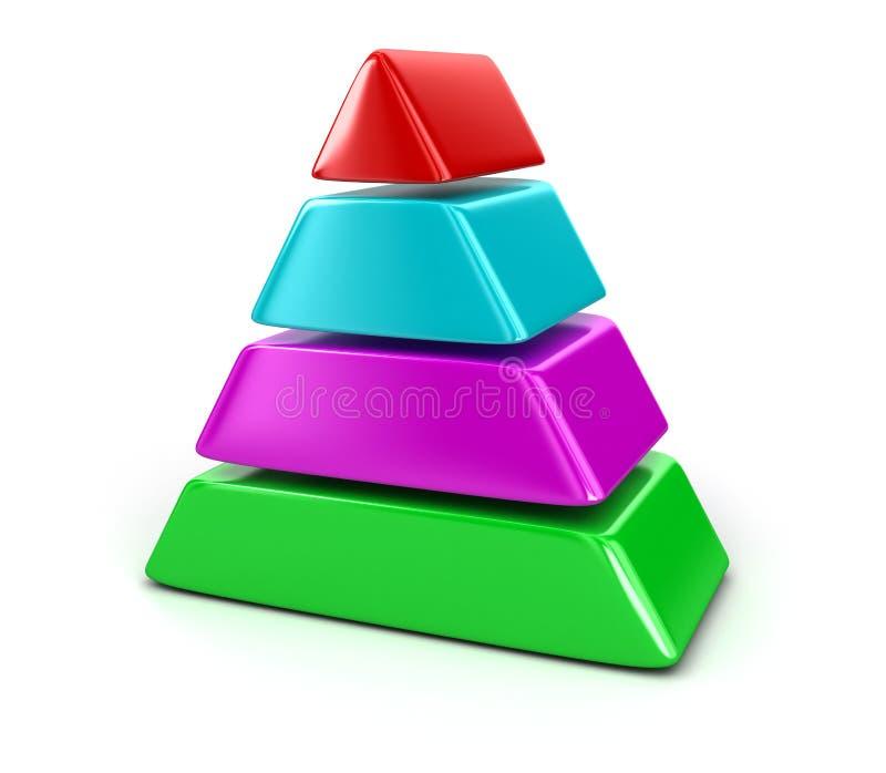 Диаграмма пирамиды иллюстрация штока