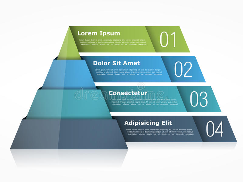 Диаграмма пирамиды иллюстрация вектора