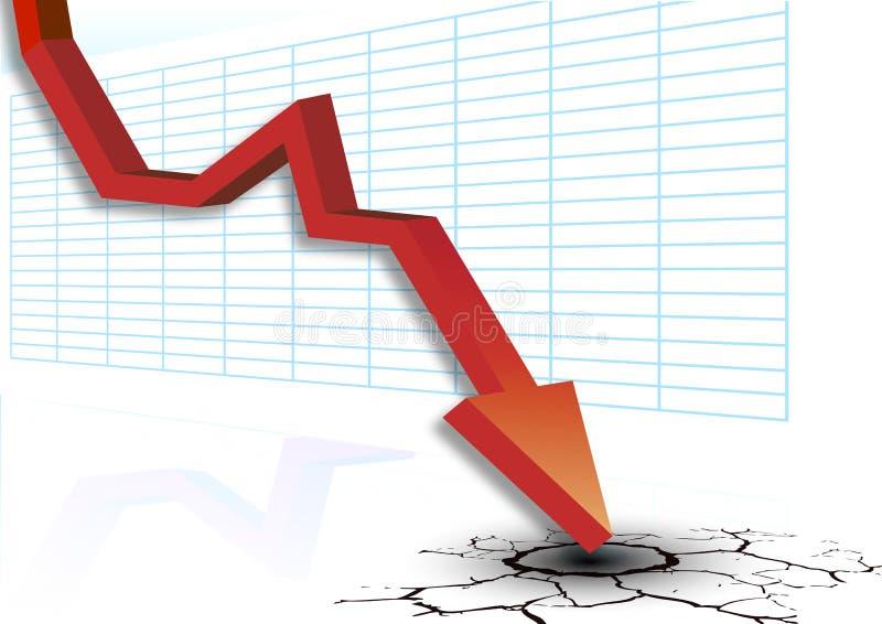 Диаграмма показывает падение бесплатная иллюстрация