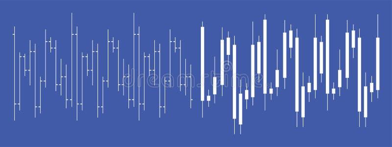 Диаграмма подсвечника валют фондовой биржи бесплатная иллюстрация