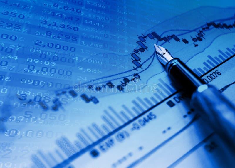 диаграмма предпосылки голубая финансовохозяйственная стоковое фото rf