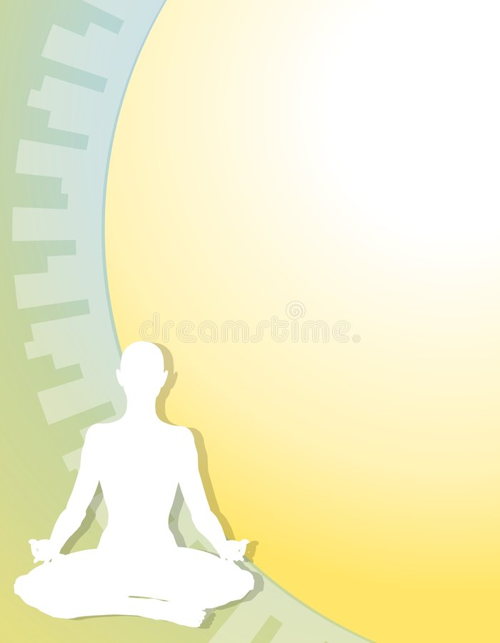 диаграмма предпосылки йога пригодности иллюстрация вектора
