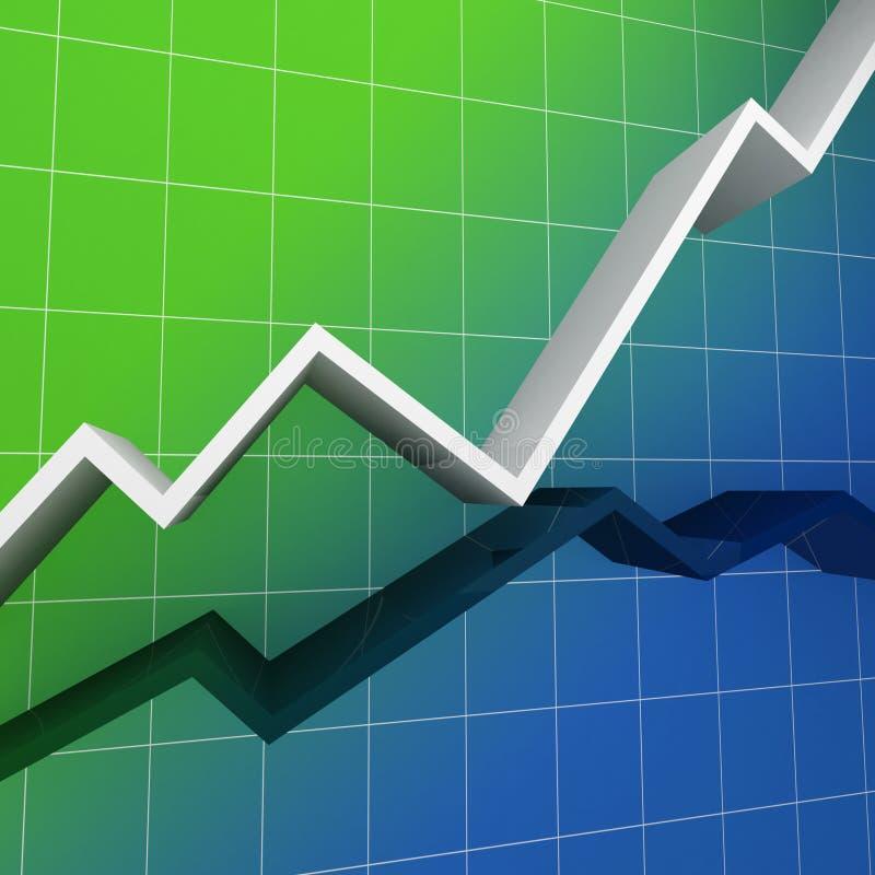диаграмма предпосылки финансовохозяйственная иллюстрация штока