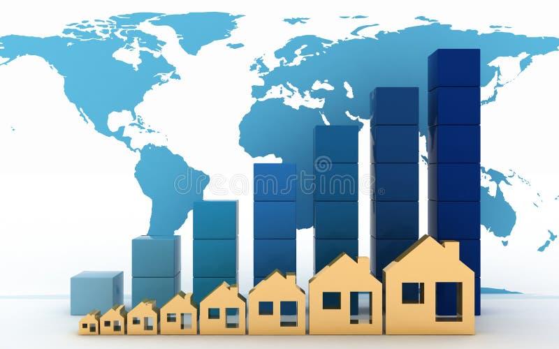 Диаграмма роста в ценах недвижимости бесплатная иллюстрация