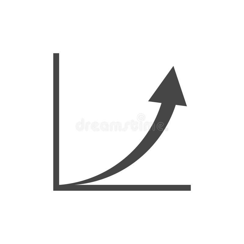 Диаграмма роста - значок вектора иллюстрация вектора