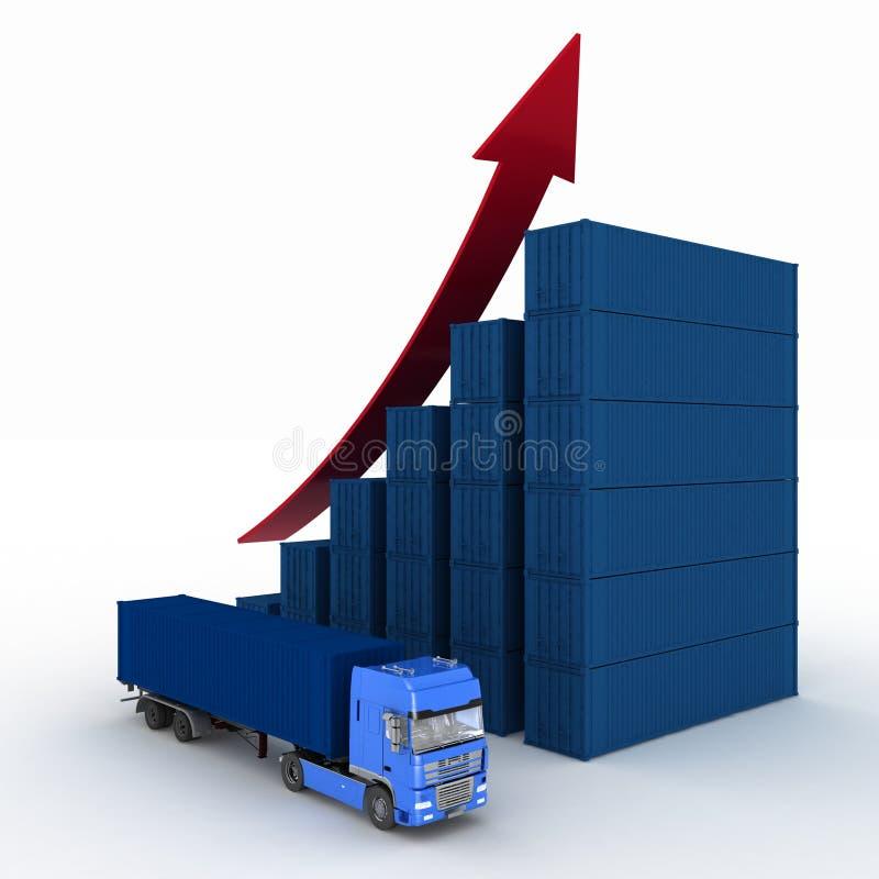 Диаграмма роста обслуживаний транспорта иллюстрация вектора