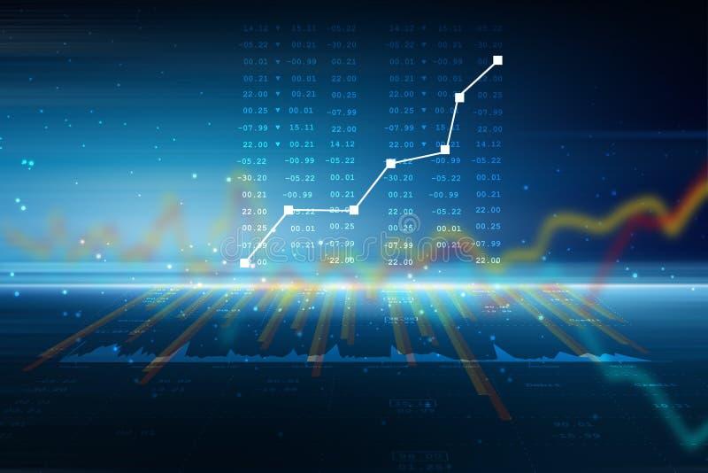 Диаграмма роста продаж в фондовой бирже иллюстрация вектора