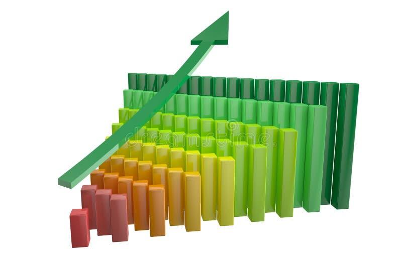 Диаграмма роста с стрелкой 2 бесплатная иллюстрация