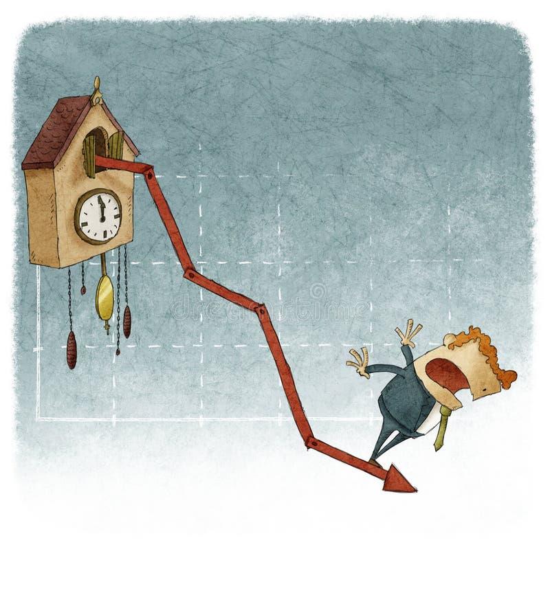 Диаграмма роста часов с кукушкой бесплатная иллюстрация