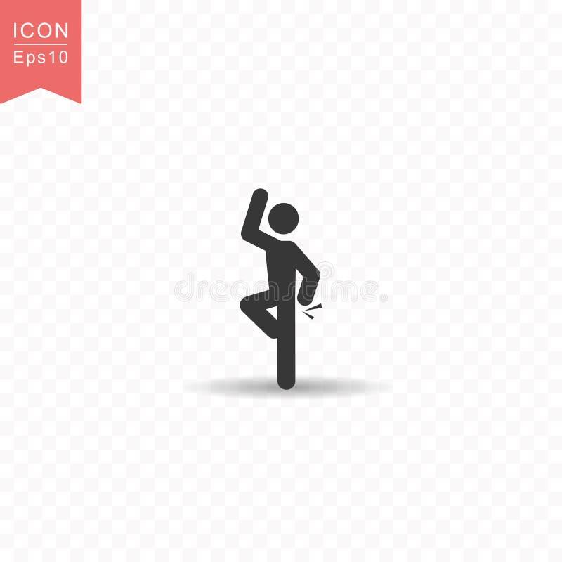 Диаграмма ручки иллюстрация вектора стиля значка силуэта танцев человека простая плоская на прозрачной предпосылке иллюстрация вектора