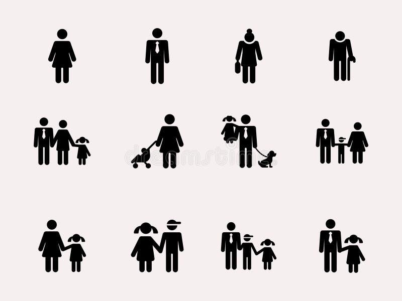 ДИАГРАММА РУЧКИ Семья вектор иллюстрация вектора