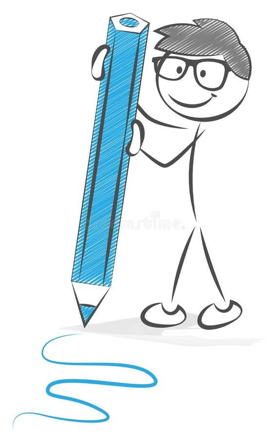 Диаграмма ручки с вектором карандаша иллюстрация штока