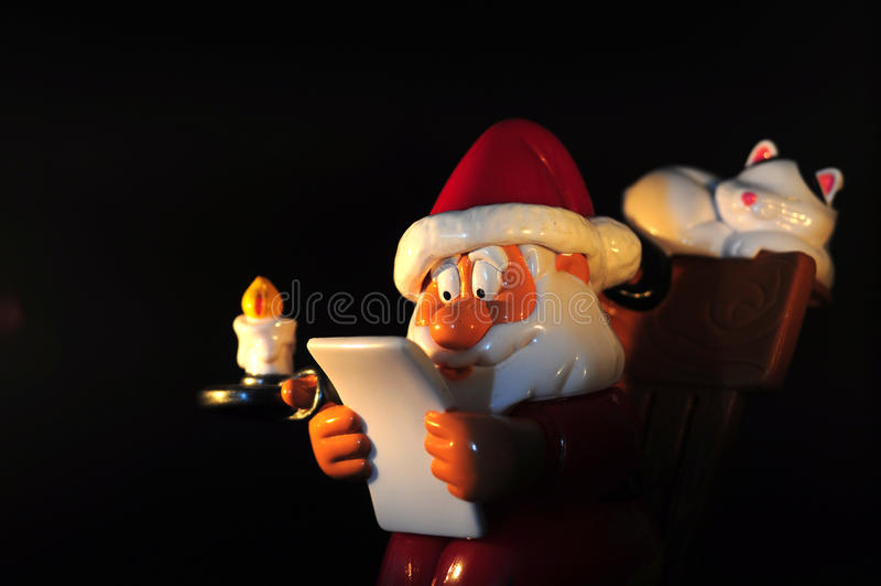 Диаграмма Санта Клауса стоковое изображение