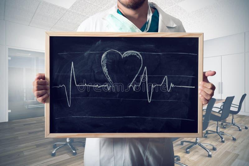 Диаграмма сердца стоковое изображение rf