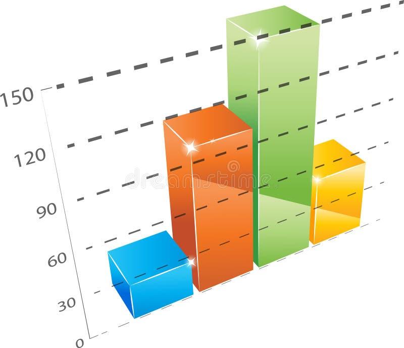 Диаграмма статистик иллюстрация штока