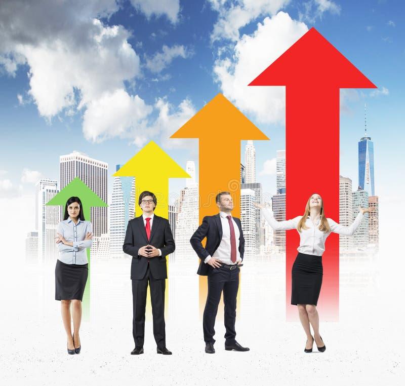 Диаграмма стрелки концепции успеха стоковые изображения