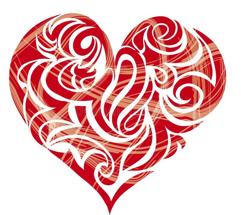 диаграмма сформированное сердце иллюстрация штока