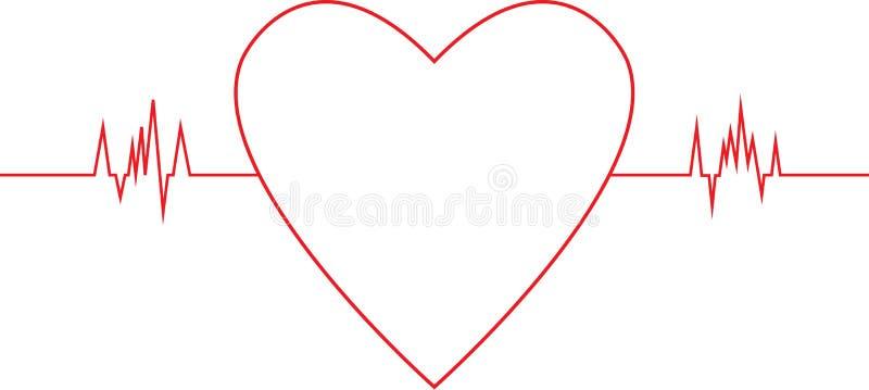 Диаграмма тарифа сердца иллюстрация вектора