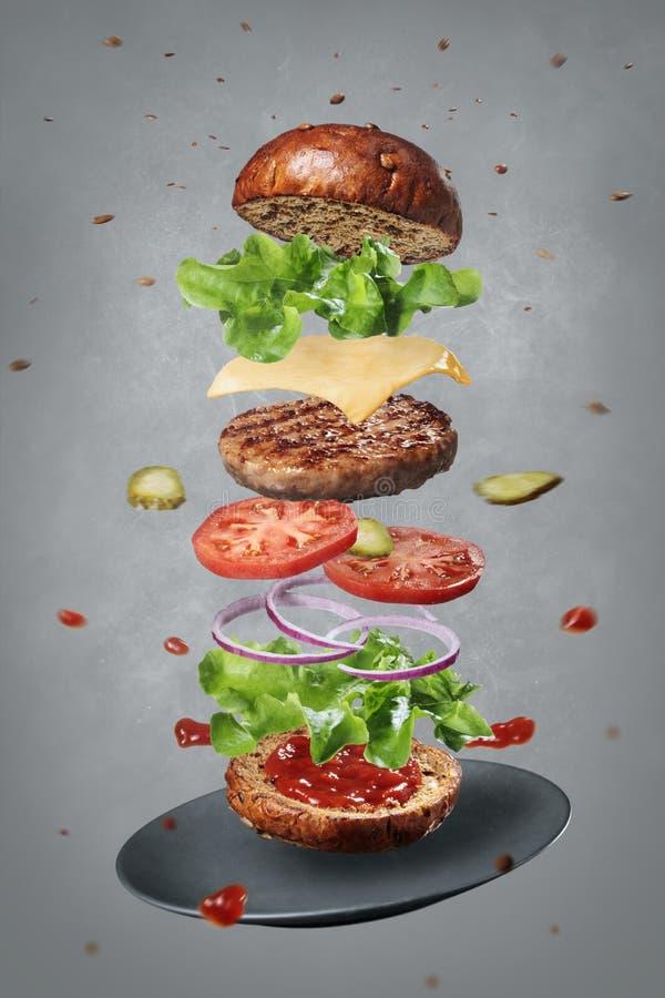 Диаграмма трехмерного изображения cheeseburger стоковое изображение rf
