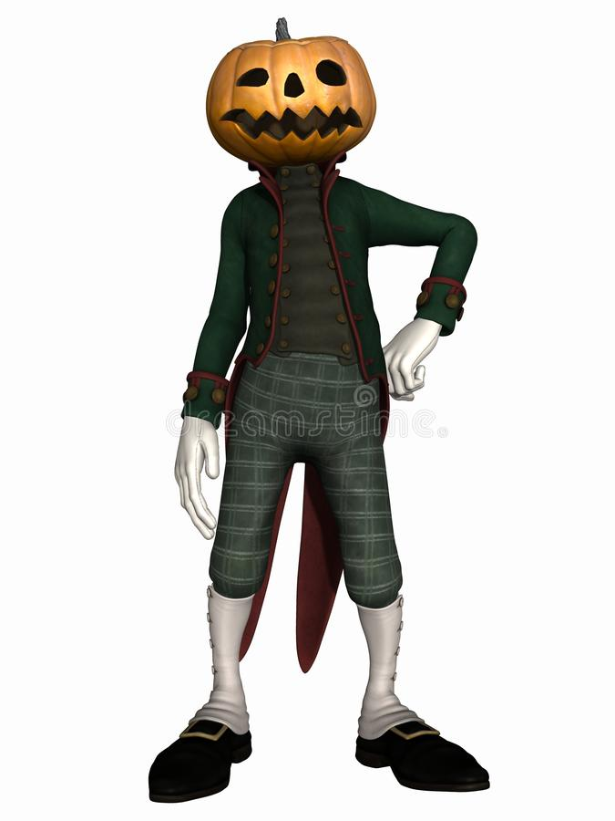 диаграмма тыква господина halloween иллюстрация штока