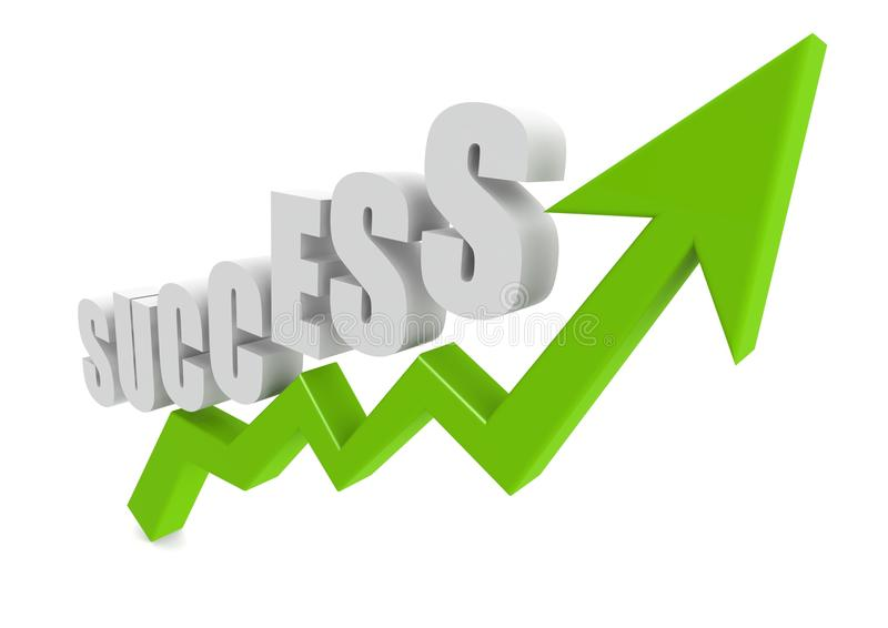 Диаграмма успеха иллюстрация штока