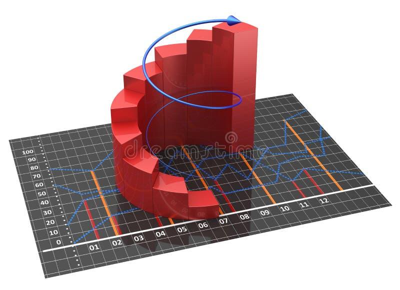 Диаграмма и диаграммы иллюстрация штока