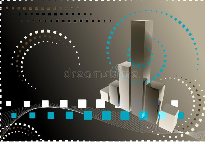 диаграмма финансов 3d иллюстрация вектора