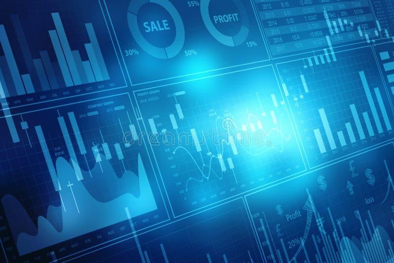 Диаграмма фондовой биржи Предпосылка диаграммы дела иллюстрация штока