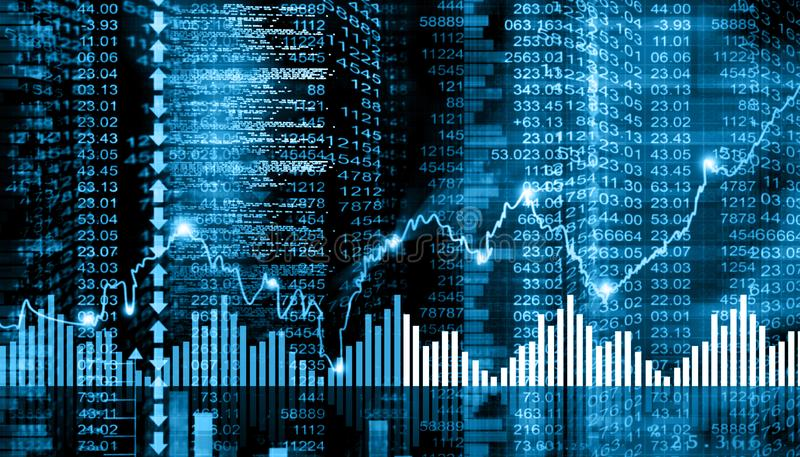 Диаграмма фондовой биржи иллюстрация вектора