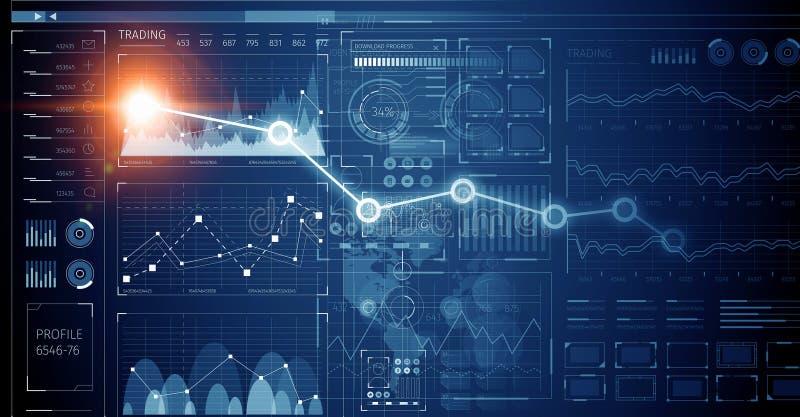 Download Диаграмма фондовой биржи на голубой предпосылке Мультимедиа Стоковое Фото - изображение насчитывающей заработки, профит: 81807628