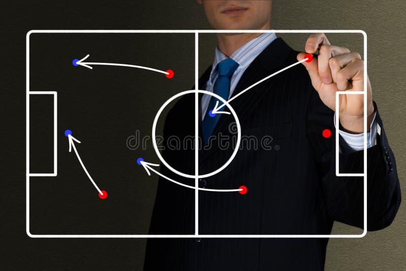Диаграмма футбольной игры стоковые изображения
