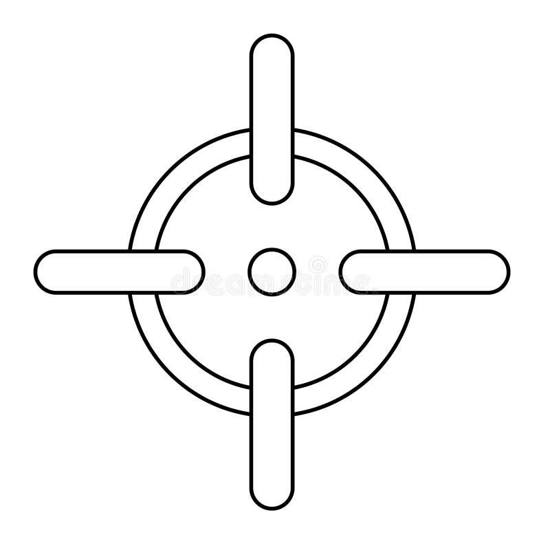 Диаграмма цели для того чтобы увольнять оружие точно бесплатная иллюстрация
