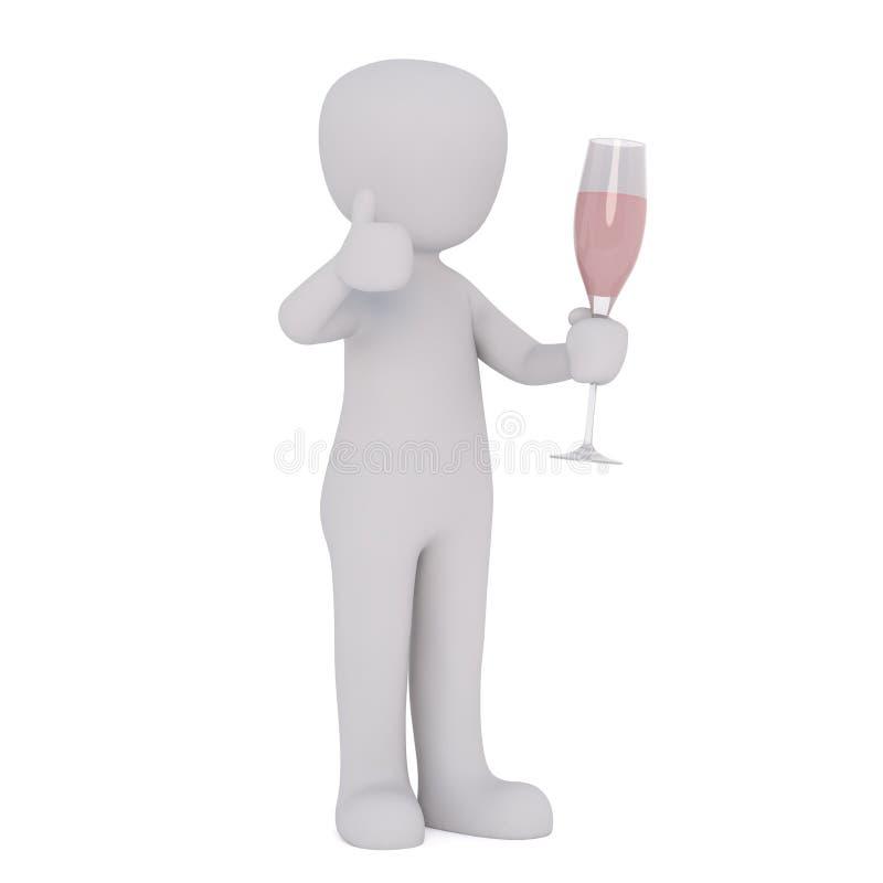 Диаграмма шаржа держа каннелюру Шампани бесплатная иллюстрация