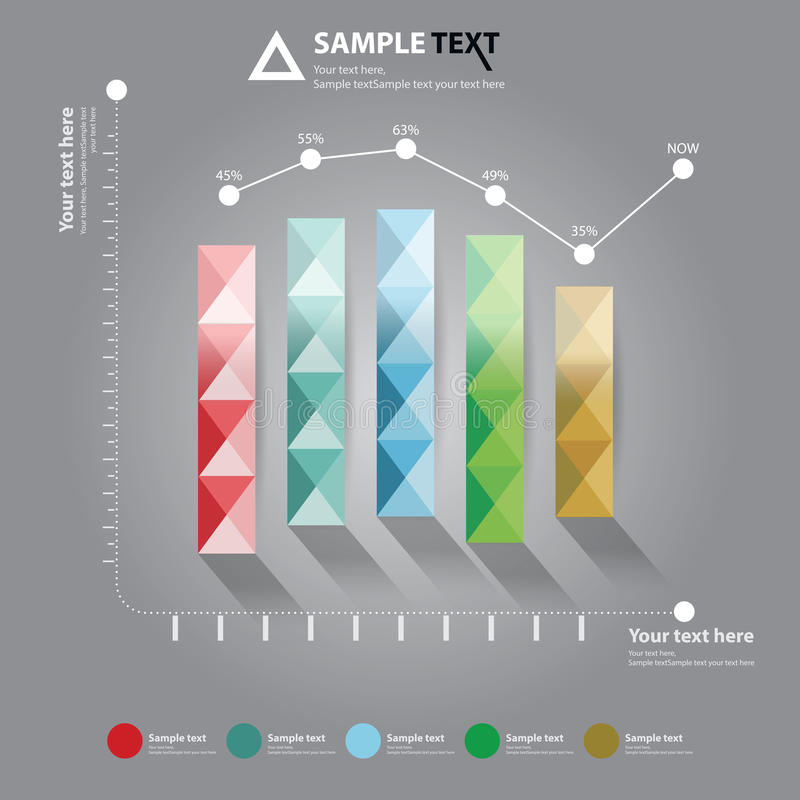 Диаграмма для представления дела стоковое изображение