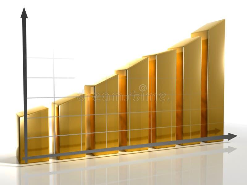 диаграмма 2 3d иллюстрация штока
