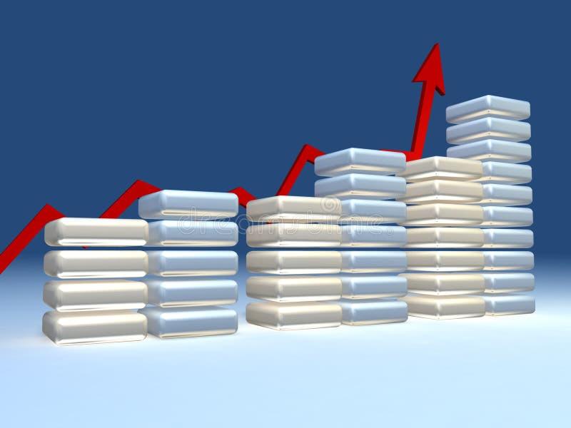диаграмма 3d стоковая фотография
