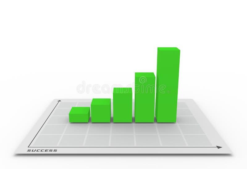 диаграмма 3D идя вверх иллюстрация штока