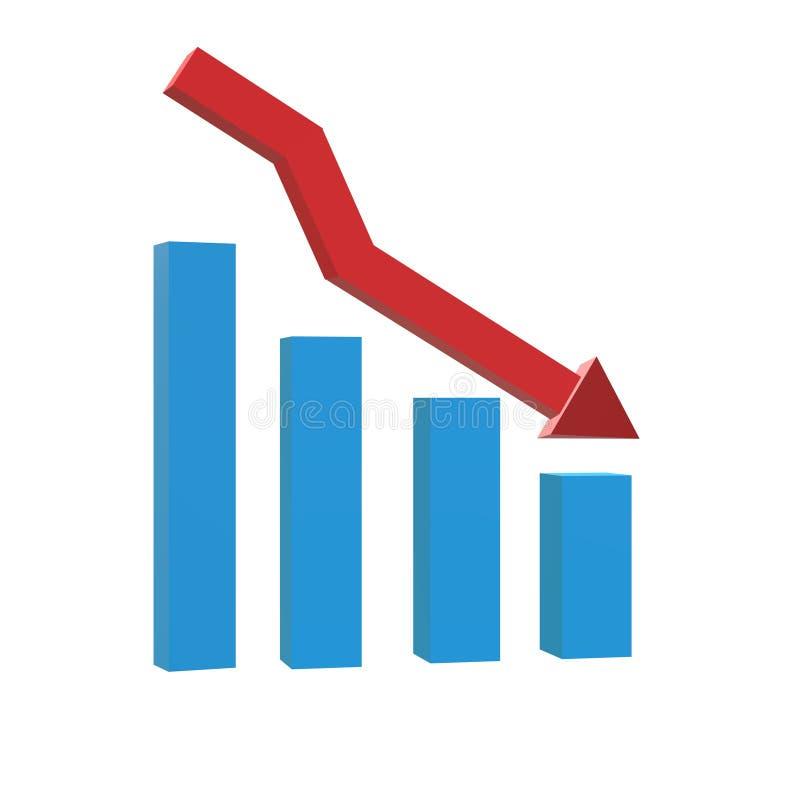 диаграмма 3D с барами склоняя значок на черной предпосылке Плоский стиль значок для вашего дизайна вебсайта, логотип диаграммы ди иллюстрация штока