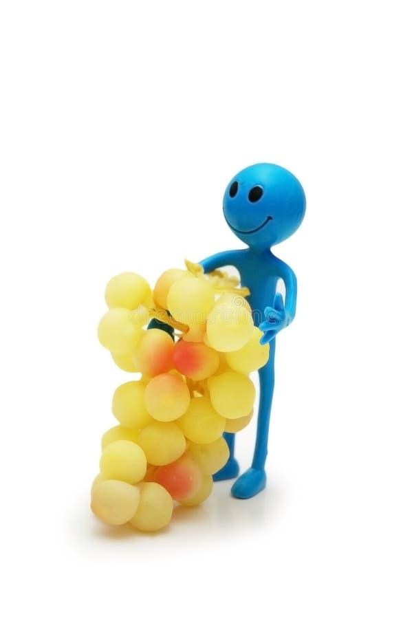 диаграмма smiley виноградин стоковые изображения