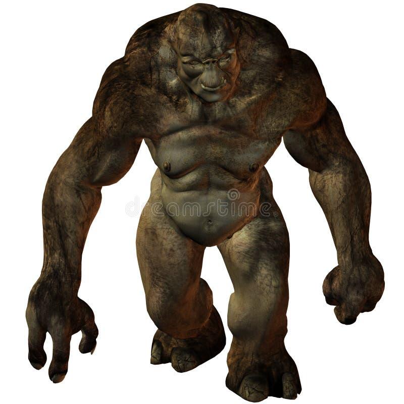 диаграмма troll фантазии 3d иллюстрация вектора