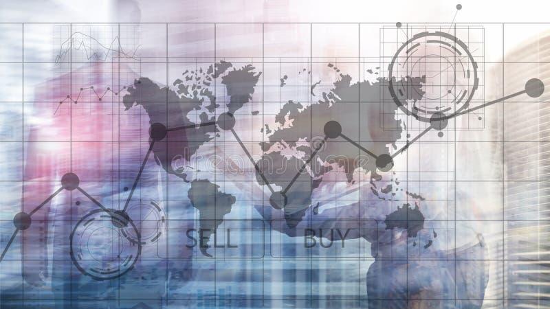 Диаграммы диаграммы вклада торговой операции валют финансовые Концепция дела и технологии бесплатная иллюстрация