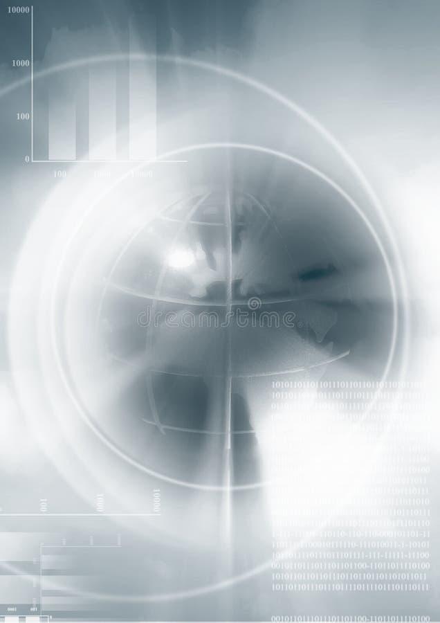 диаграммы дела зарывают иллюстрацию глобуса иллюстрация вектора