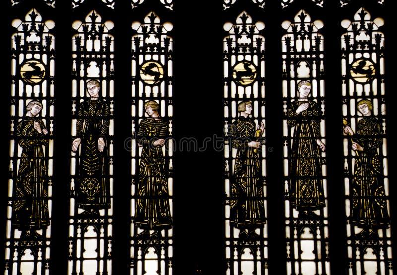 Диаграммы Ейль цветного стекла Bonawit средневековые стоковые изображения rf