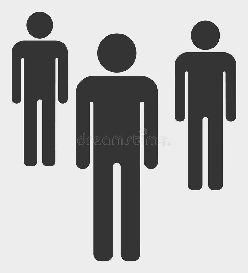 Диаграммы иллюстрация людей значка вектора иллюстрация вектора