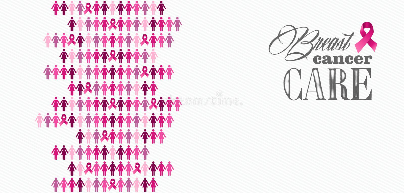 Диаграммы компенсация женщин ленты осведомленности рака молочной железы иллюстрация вектора