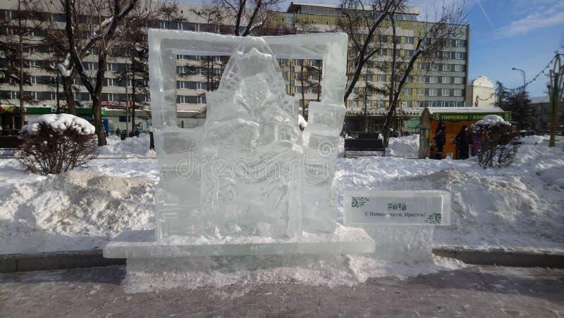 Диаграммы льда в парке стоковое изображение rf