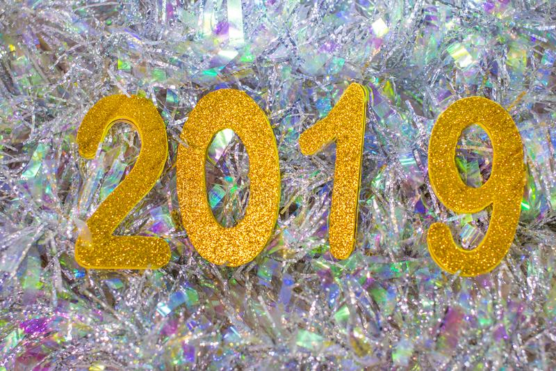 диаграммы Нового Года 2019 стоковая фотография rf
