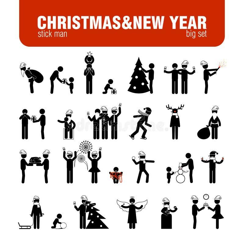 Диаграммы ручки года Christmas&new бесплатная иллюстрация