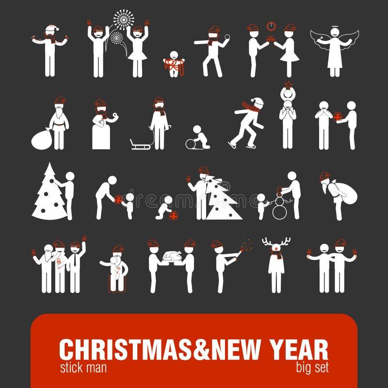 Диаграммы ручки года Christmas&new иллюстрация штока