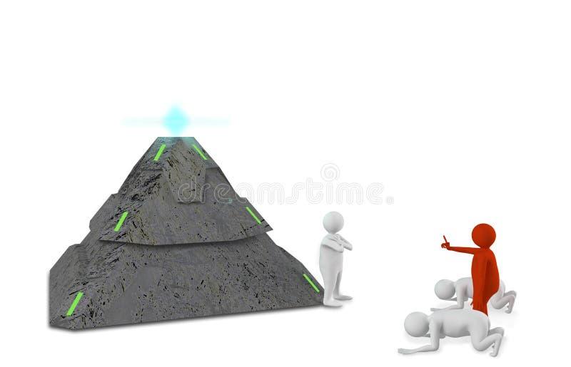 Диаграммы с пирамидой иллюстрация вектора